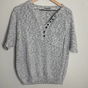 Stefano Gray 1/4 Button Up Marled Sweater Size 20W